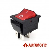 4-Pin SOKEN RK1-01 Premium On/Off Rocker Switch DPST 16A/250V With LED (Red)