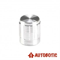 Aluminium Alloy Knob Fit For 6mm Potentiometer Shaft (Silver)
