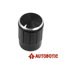 Aluminium Alloy Knob Fit For 6mm Potentiometer Shaft (Black)