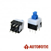 6-Pin Push On/Off Self-Locking Switch (8x8mm)