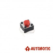 4-Pin Tactile Push Button Tact Switch - Red Head (6x6x5mm)