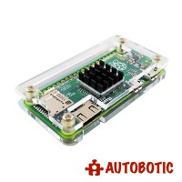 Raspberry Pi Zero Accessories (Power Adapter + 16GB Class 10 MicroSD + acrylic casing with heat sink + mini HDMI to HDMI Converter + USB OTG cable + 2x20 Header Pin)