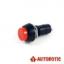 2-Pin Self Locking Button Switch SPST - Hole 12mm (Red)