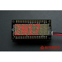 FireBeetle Covers-24_8 LED Matrix (Red)