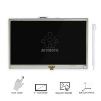Raspberry Pi 5 inch Touchscreen LCD (Free Touch Pen) for Raspberry Pi 4/3B+/3B