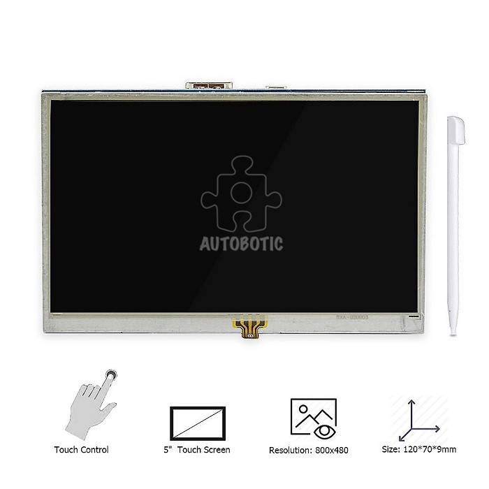 Raspberry Pi 5 Inch Touchscreen Lcd Free Touch Pen