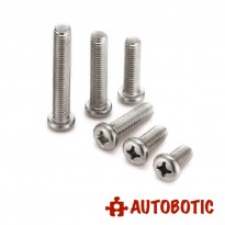 M2.5x12mm Stainless Steel Pan Head Philips Machine Screw