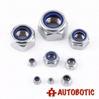 M8 Stainless Steel Nylon Insert Self Lock Nut