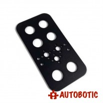 Aluminium Feet Bracket for DIY Robot (Black)