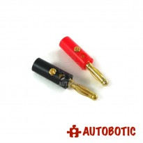 4mm Male Banana Jack Connector - 2pcs Per Pack