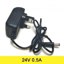 AC to DC Power Adapter 24V 0.5A (UK Plug)