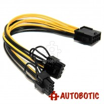CPU 8 Pin to Double 6P+2P PCI-E Graphics Video Card Power Supply Splitter Cable