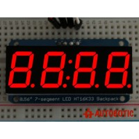 Adafruit 0.56 inch 4-Digit 7-Segment Display w/I2C Backpack - Red