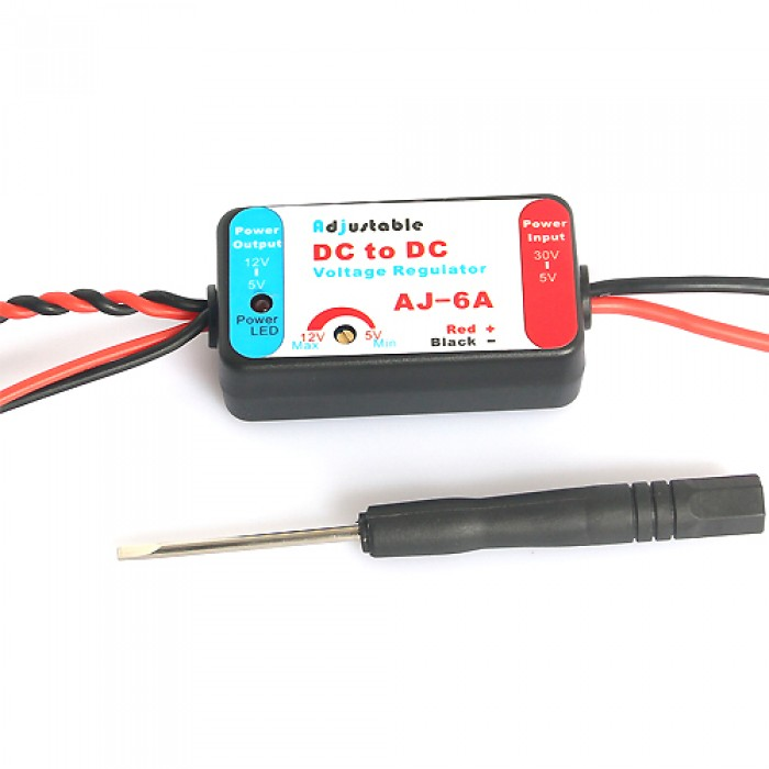 Adjustable DC to DC Voltage Regulator (UBEC) AJ-6A-JS