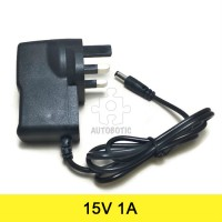 AC to DC Power Adapter 15V 1A (UK Plug)