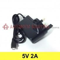 Plug Type G (UK Type) Converter Adapter, Input (AC 100V-240V), Output Micro USB (DC 5V, 2A)