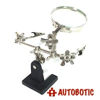 Soldering Clamp with Magnifying Glass