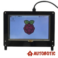 Acrylic Stand For Raspberry Pi 5 inch Touchscreen LCD (Black)