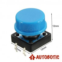 4-Pin Tactile Push Button Tact Switch With Cap (12x12mm)