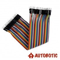 Male To Male Arduino Breadboard Dupont Jumper Wires (40p-30cm)