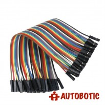 Female To Female Arduino Breadboard Dupont Jumper Wires (40p-30cm)