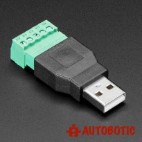 USB A Male Plug to 5 pin Terminal Block