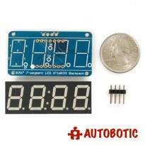 Adafruit 0.56 inch 4-Digit 7-Segment Display w/I2C Backpack - White