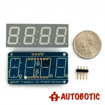 Adafruit 0.56 inch 4-Digit 7-Segment Display w/I2C Backpack - Blue