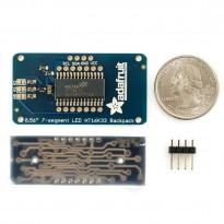 Adafruit 0.56 inch 4-Digit 7-Segment Display w/I2C Backpack - Blue
