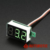 Mini 3-wire Volt Meter (0 - 99.9VDC)