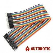Male To Female Arduino Breadboard Dupont Jumper Wires (40p-30cm)