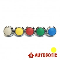 2-Pin Momentary Push On dome Button  - Hole 12mm (Yellow)
