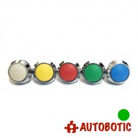 2-Pin Momentary Push On dome Button  - Hole 12mm (Green)