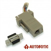 DB9 Female to RJ11 Modular Adapter
