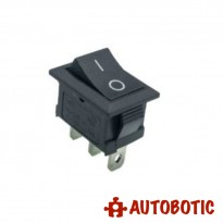 3-Pin KCD1-11 On/Off Rocker Switch SPDT 3A/250V (Black)