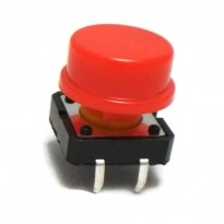 B3F-4055 Tactile Switch With KeyCap (Red)