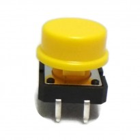 B3F-4055 Tactile Switch With KeyCap (Yellow)