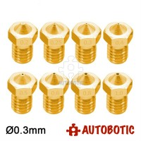 3D Printer 1.75mm Filament E3D V6 Brass Extruder Nozzle (0.3mm)