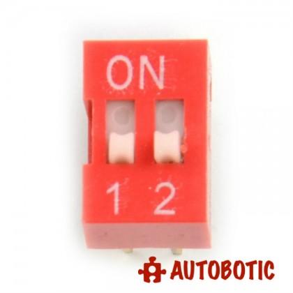 DIP Switch 2 Ways Slide Type