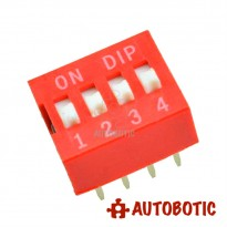 DIP Switch 4 Ways Slide Type