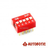 DIP Switch 5 Ways Slide Type