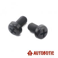 M3X10mm Black Nylon Round Button Head Phillips Machine Screws