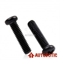 M3X20mm Black Nylon Round Button Head Phillips Machine Screws