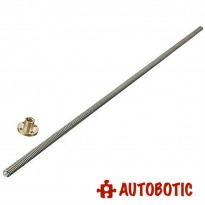 T8 Pitch 2mm Stainless Lead Screw With Brass Nut for 3D Printer (L=350mm)