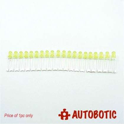Conjoined Bead LED 5mm (Yellow) 1 piece