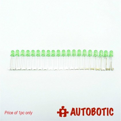 Conjoined Bead LED 5mm (Green) 1 piece