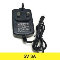 AC to DC Power Adapter 5V 3A Output Micro USB (UK Plug) Raspberry Pi 3