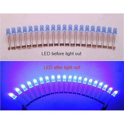 Conjoined Bead LED 5mm (Blue) 1 piece