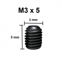 M3x5mm High Tensile Alloy Steel Hex Socket Set Screw