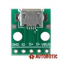 Female Micro USB to DIP 2.54mm Adapter Module